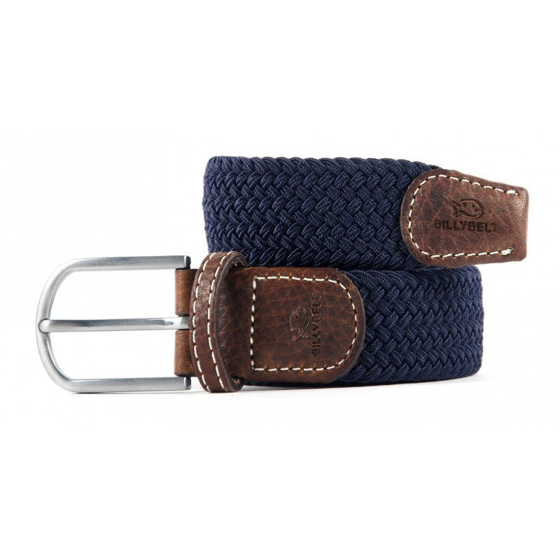 Premium Navy Blue Woven Elastic Stretch BillyBelt Belt