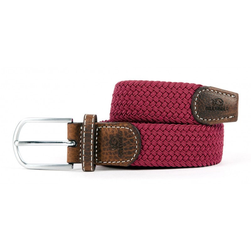 Premium Burgundy Woven Elastic Stretch BillyBelt Belt