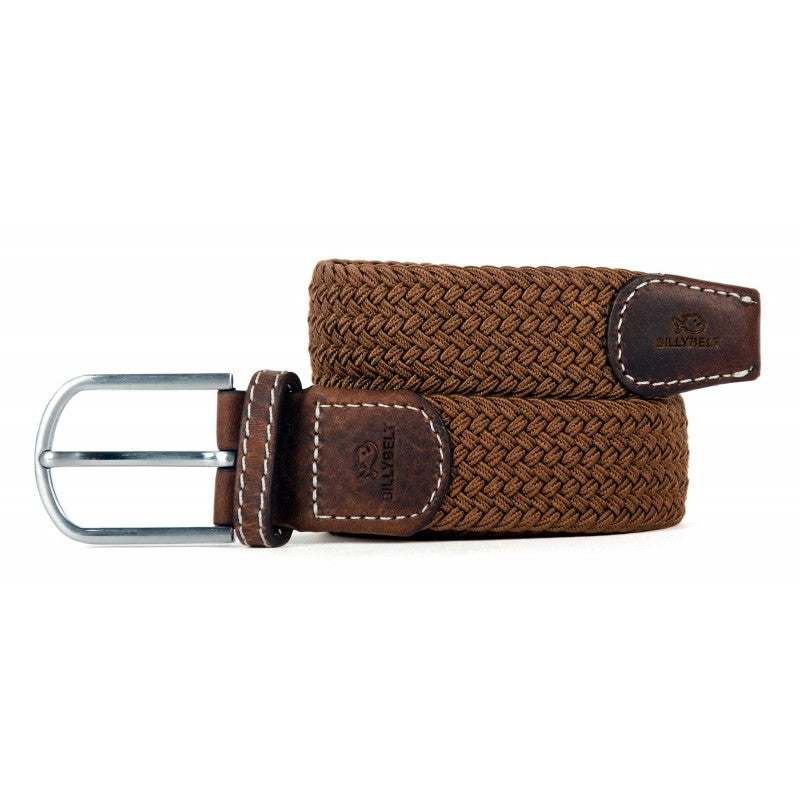 BillyBelt - Woven Stretch Belt - Camel Brown