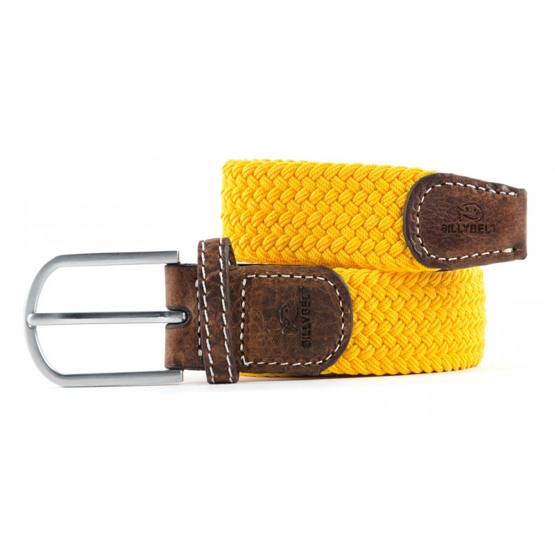 Premium Yellow Woven Elastic Stretch BillyBelt Belt