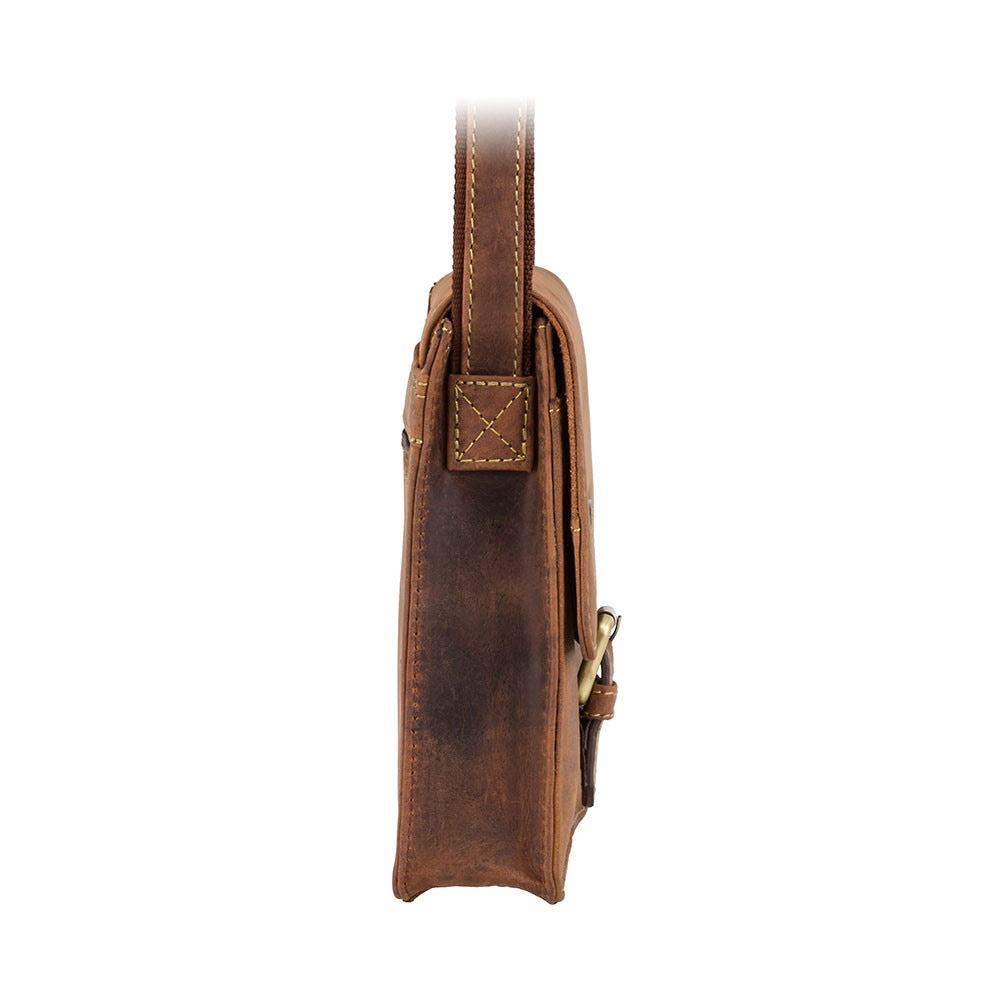 Visconti Mini Crossover Oil Tan Leather Bag