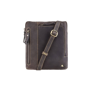 Visconti Leather A5 Messenger Bag - Oil Brown