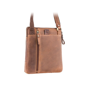 Visconti Leather A5 Messenger Bag - Oil Tan