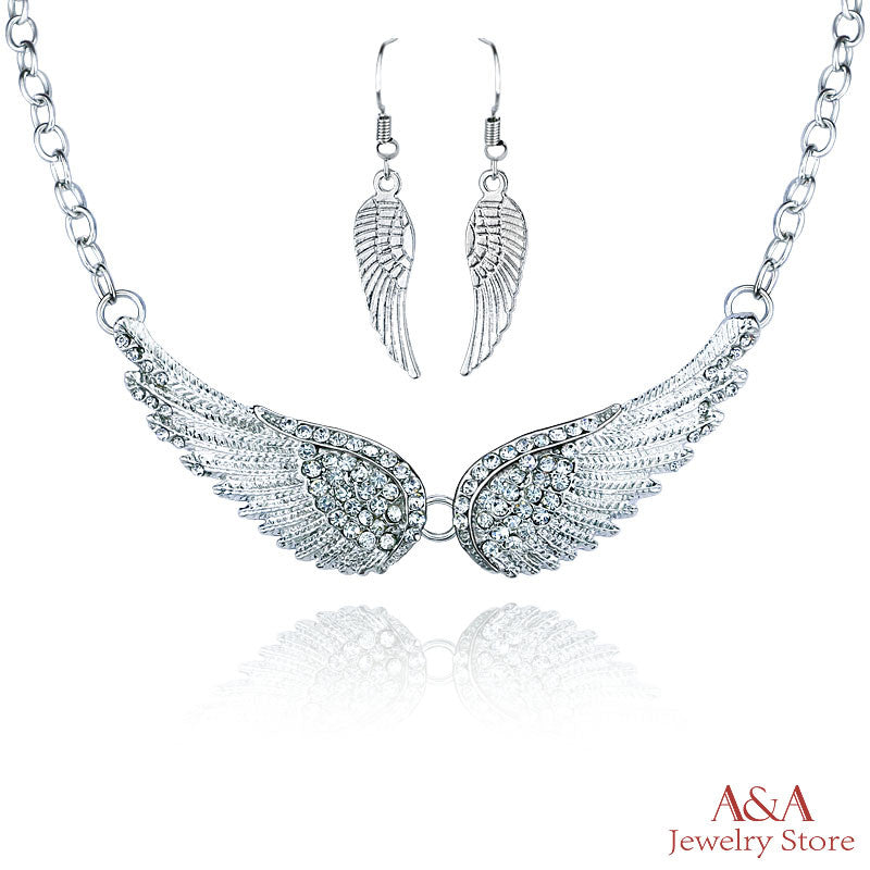 Brightly Angel Wings OL Style Women Choker Necklaces