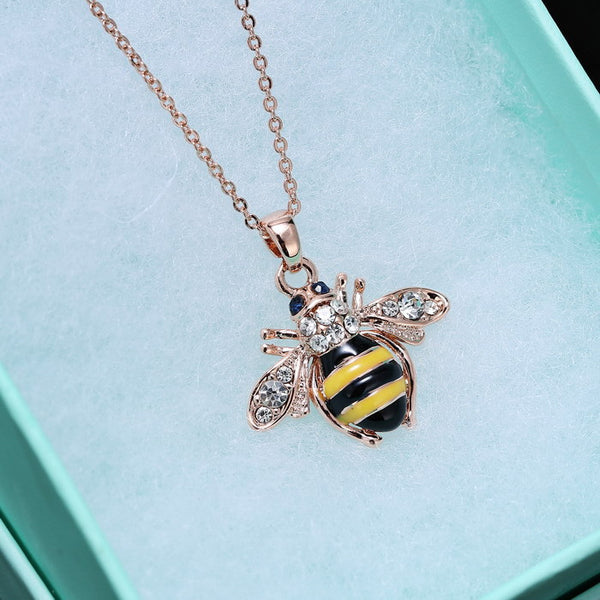 New Styles Fashion - Women Jewelry - Antique Geometric Bee Pendant Necklace