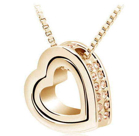 Heart Crystal Necklaces & Pendants Jewellery