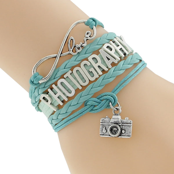 Infinity Love Photography Wristband Bracelet