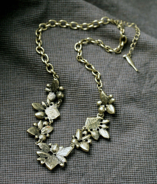 Antique Geometric Pendant Necklace