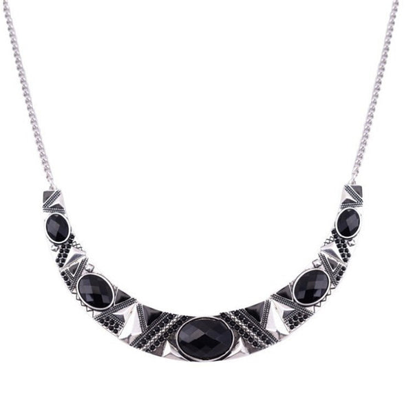 Alloy Black Resin Bead Choker Necklace Fashion Bijoux Necklace