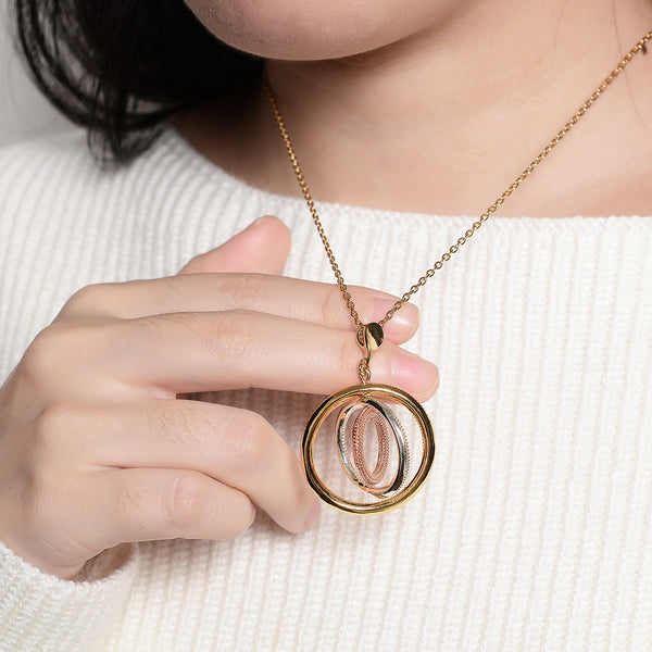 Viennois Round Pendant Necklace