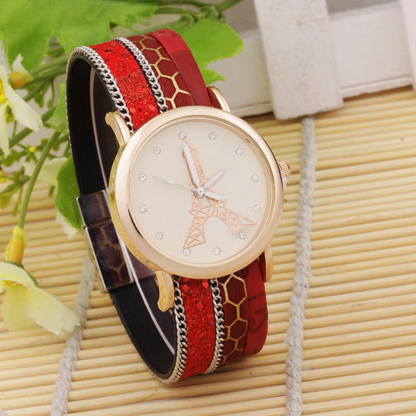 Korean Eifel Woven Bracelet Watches