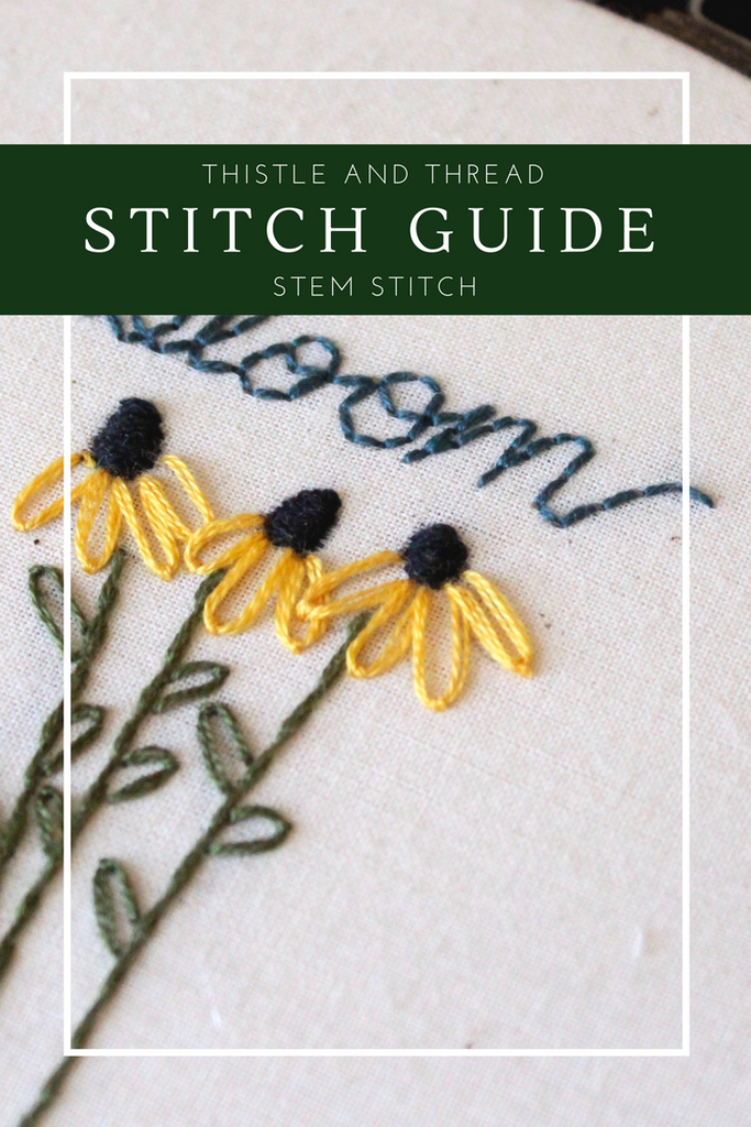Thistle and Thread Stitch Guide: Stem Stitch