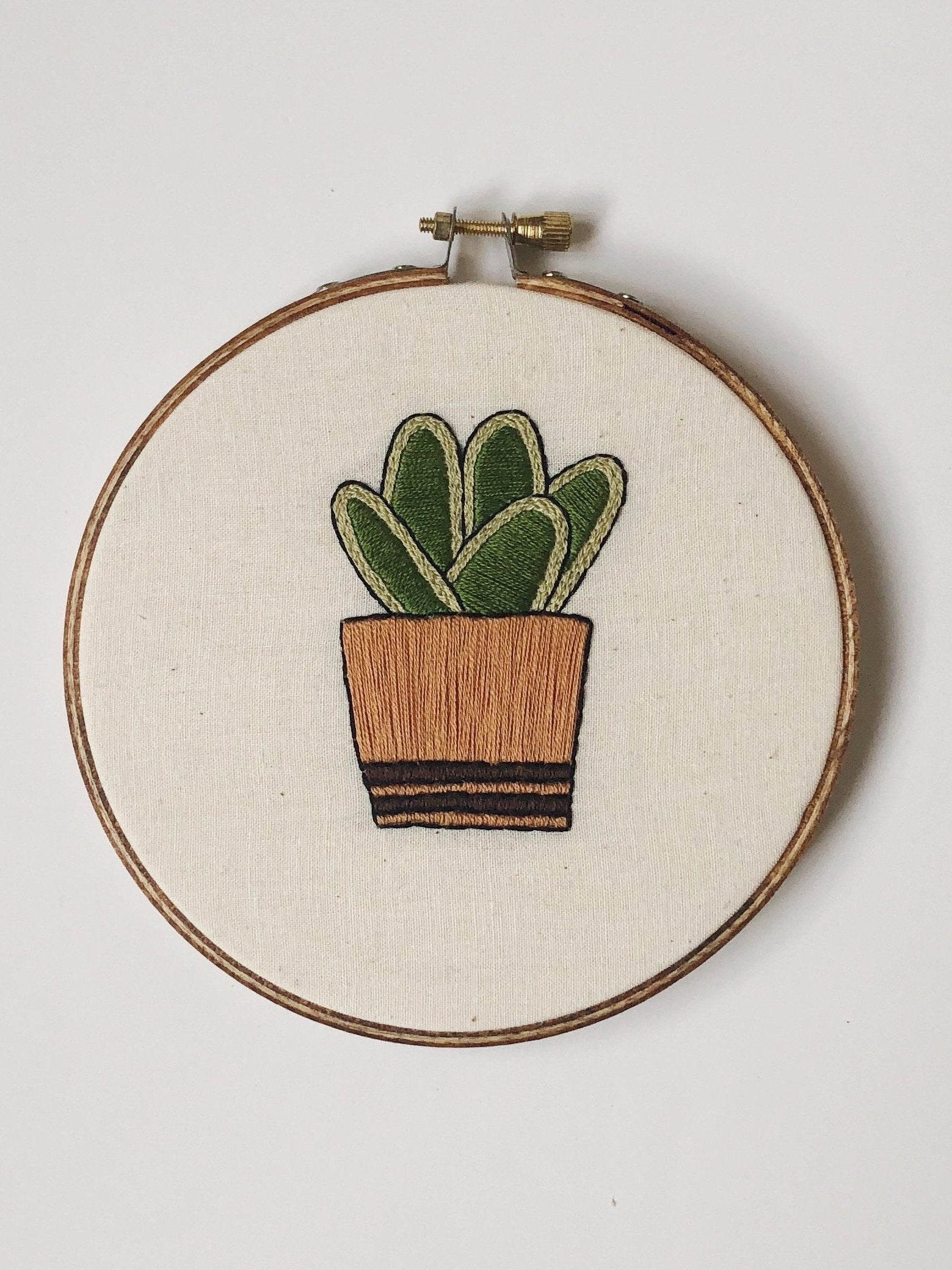 Simple Cactus Do-It-Yourself Embroidery Kit