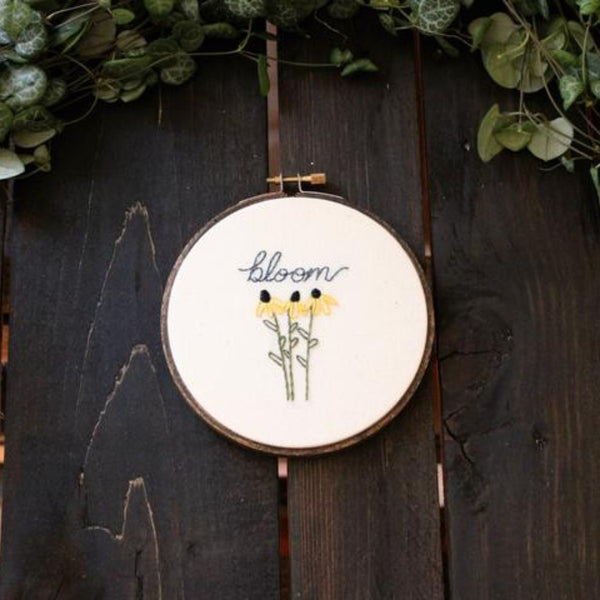 Bloom Do-It-Yourself Embroidery Kit Thistle and Thread Design