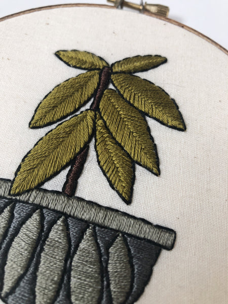 Rubber Tree Do-It-Yourself Embroidery Kit