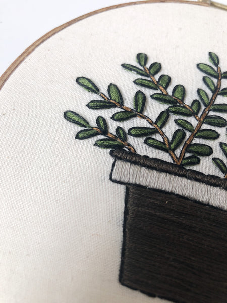 ZZ Plant Do-It-Yourself Embroidery Kit