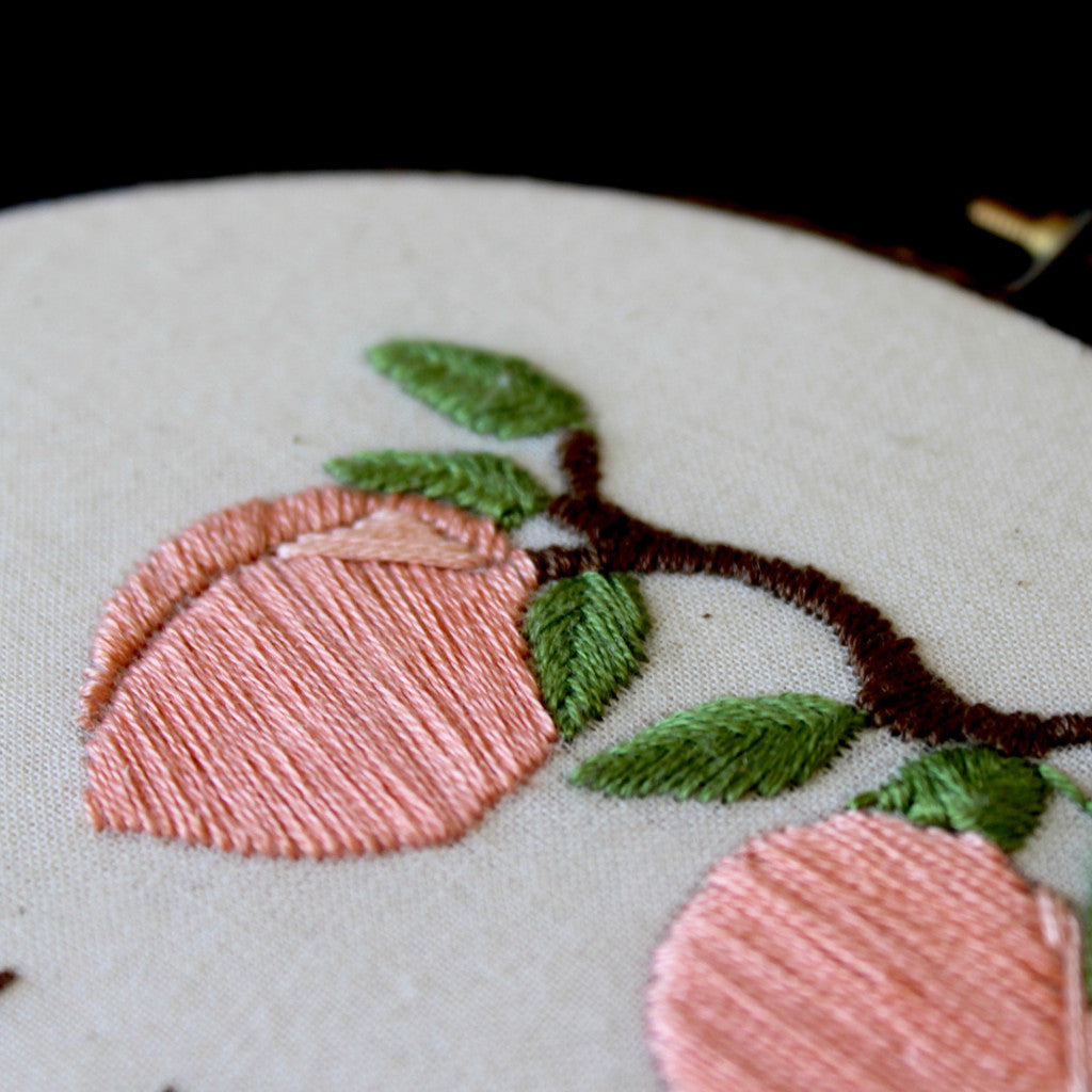 You're A Peach Embroidery PDF Pattern Download