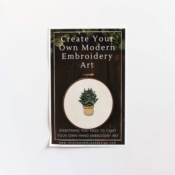 Snake Plant Do-It-Yourself Embroidery Kit