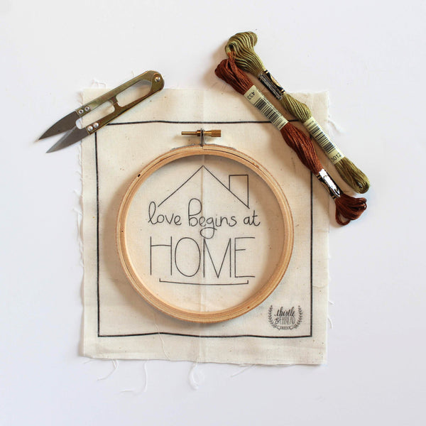 Love Begins at Home Do-It-Yourself Embroidery Kit
