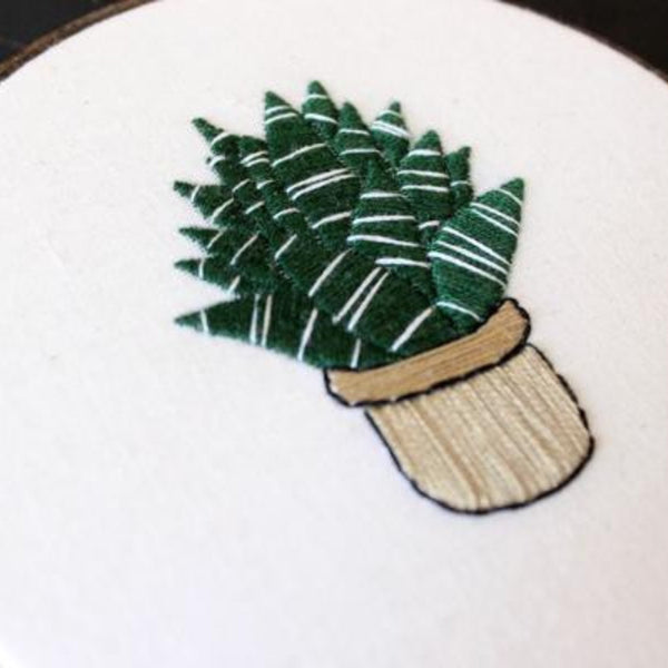 Snake Plant Do-It-Yourself Embroidery Kit Thistle and Thread Design