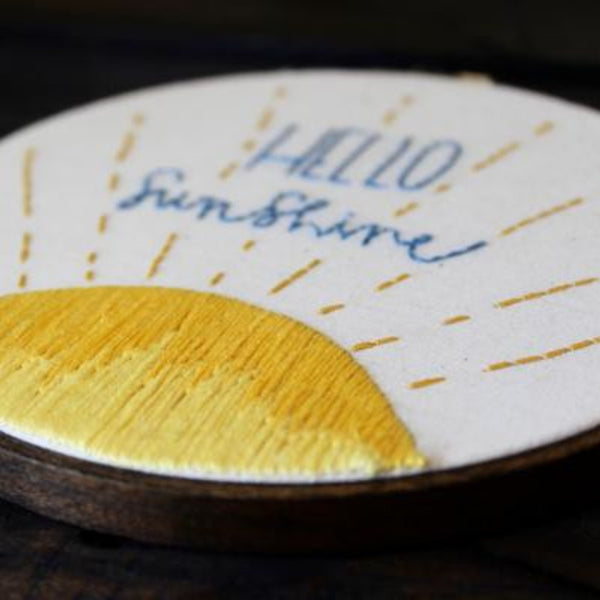 Hello Sunshine Do-It-Yourself Embroidery Kit Thistle and Thread Design
