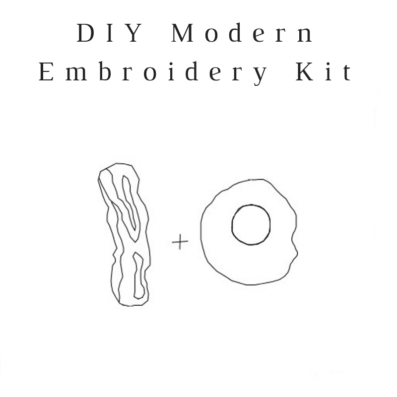 Bacon + Eggs Do-It-Yourself Embroidery Kit