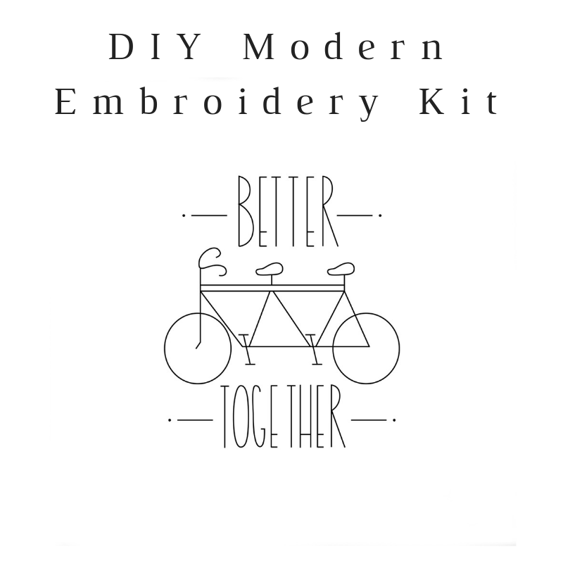 Better Together Do-It-Yourself Embroidery Kit