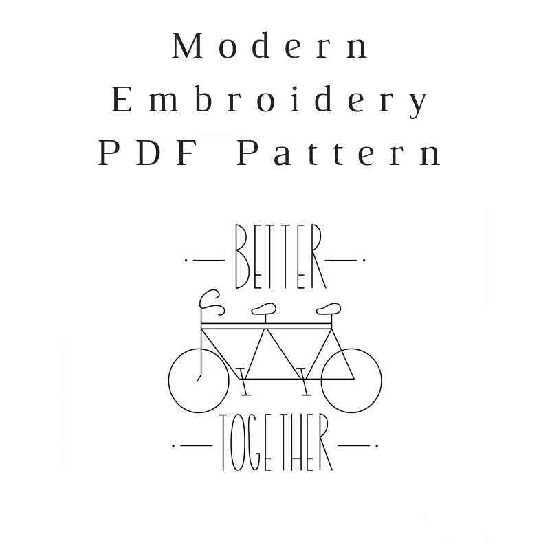 Better Together Embroidery PDF Pattern Download