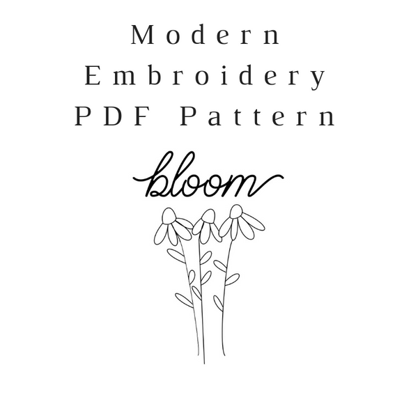 Bloom Embroidery PDF Pattern Download