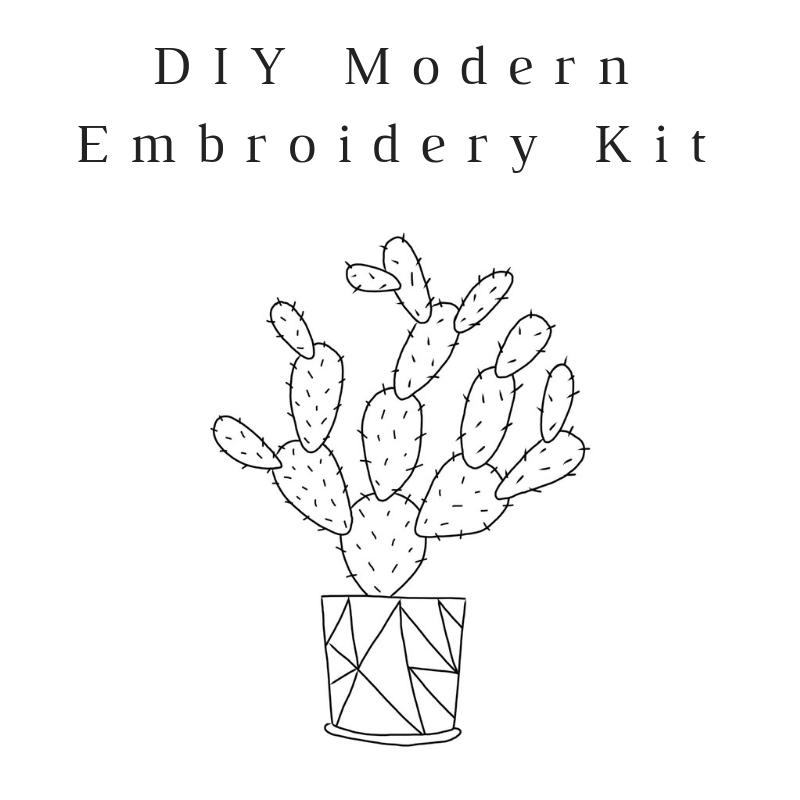Growing Cactus Do-It-Yourself Embroidery Kit