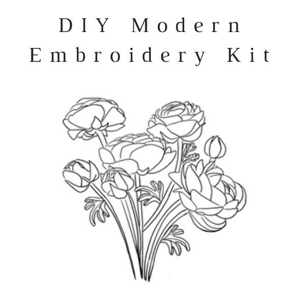 Peony Do-It-Yourself Embroidery Kit