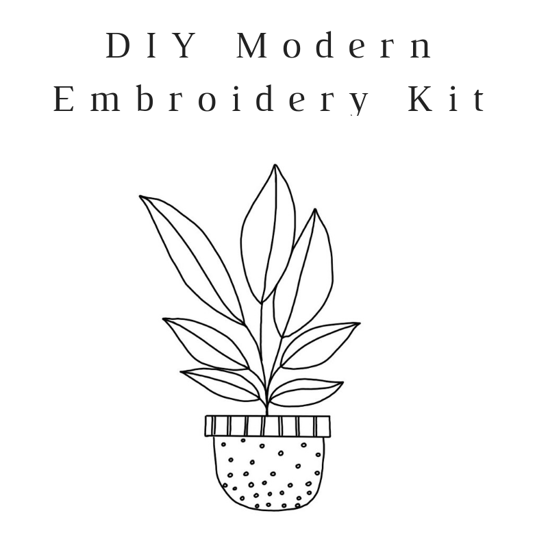 Spotted Planter Do-It-Yourself Embroidery Kit