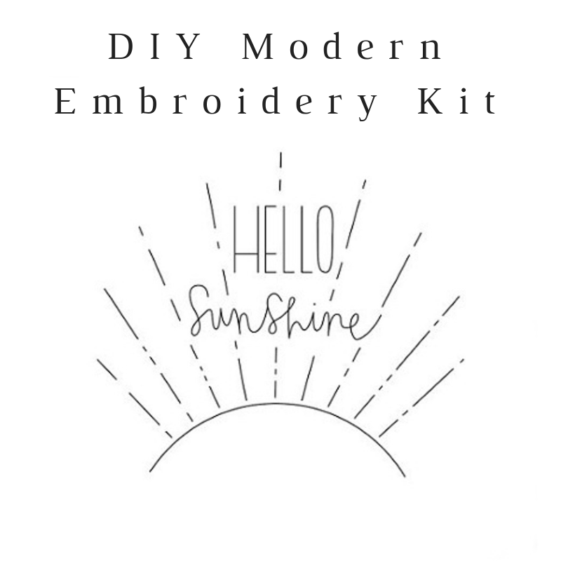 Hello Sunshine Do-It-Yourself Embroidery Kit