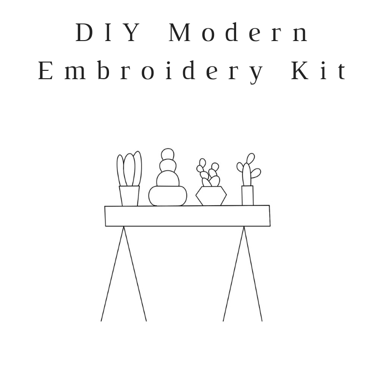 Table Cacti Do-It-Yourself Embroidery Kit