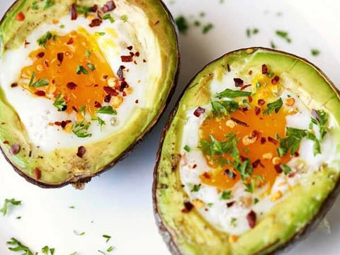 Keto Avocado Breakfast Bowl with Egg