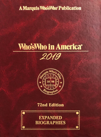 Who's Who in America 2019 – 72nd Edition | Marquis Who's Who Ventures LLC