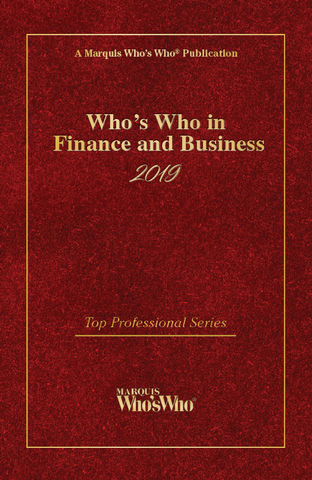 Who's Who in Finance and Business 2019 - Marquis Who's Who Ventures LLC