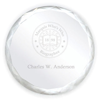 Crystal Paperweight | Marquis Who's Who Ventures LLC