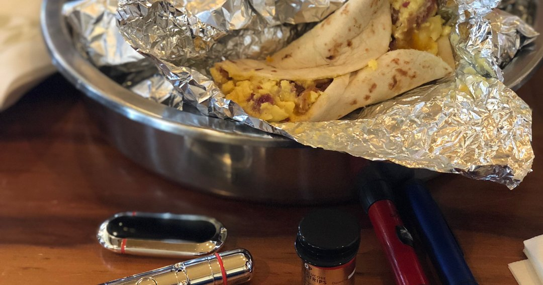 Breakfast Taco Challenge - low carb tacos - diabetics eating tacos - eating tacos with diabetes - diabetes friendly tacos - diabetes diet - checking blood glucose - checking blood sugar - how to check blood sugar - bluetooth blood glucose meter