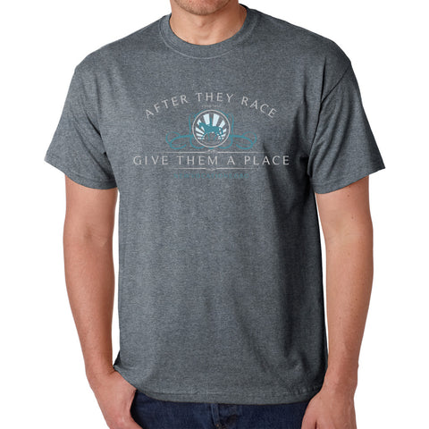 After They Race Give Them A Place Unisex T-shirt - Graphite Heather