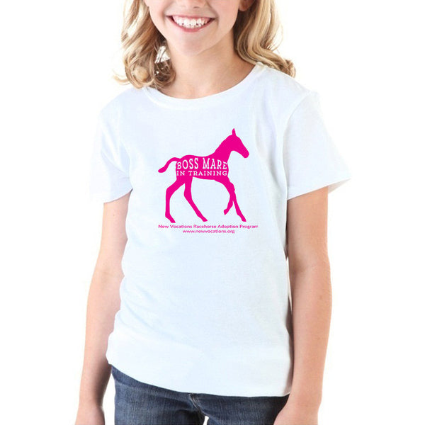 Boss Mare In Training Youth T-shirt - White