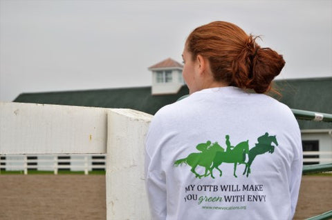 "Limited Edition ""My OTTB will make you green with envy"" long-sleeve shirt"