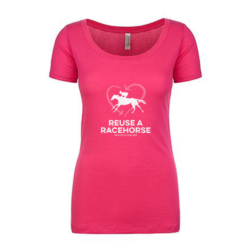 Reuse A Racehorse T-Shirt - Raspberry
