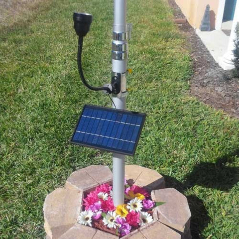 Patriot Solar Flagpole Light