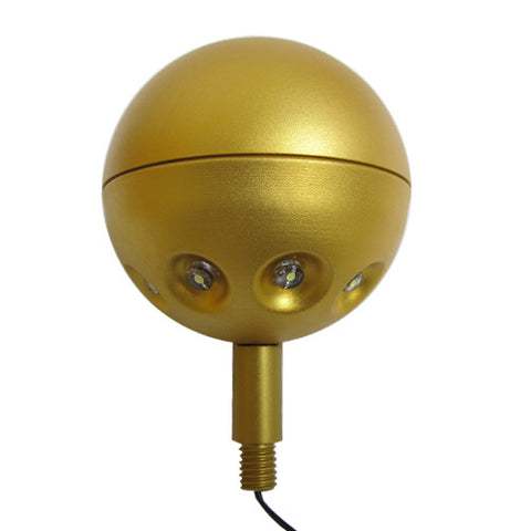 "4"" Gold Flagpole Ball with LED Lights"