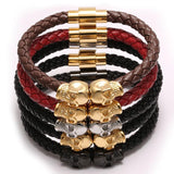 Leather Skull Bracelets (4 colors)