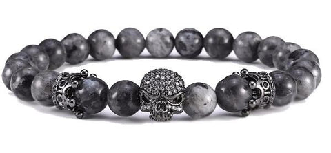 Gun Black Crown & Skull Bracelet