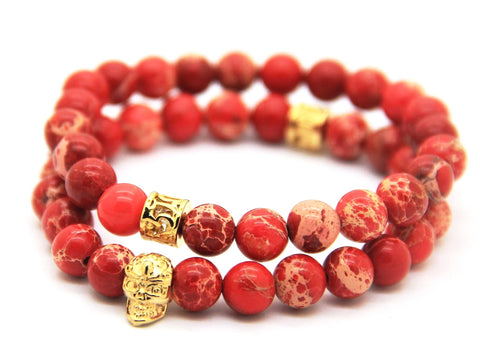 2 pcs/set Skull Bracelet (2 colors)