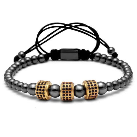 Titanium Steel Beads Bracelets (4 colors)