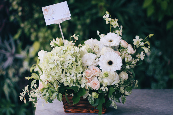 Solace (Sympathy flower basket)